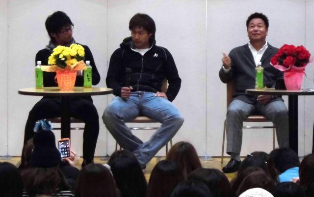 柳田選手、明石選手、島田誠さんによるスペシャルトークショー終了