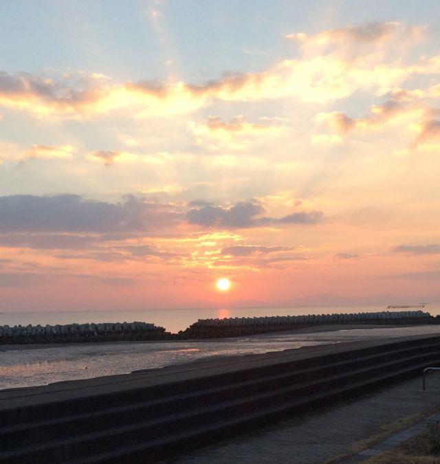 祝!初日の出!2016in長井の浜