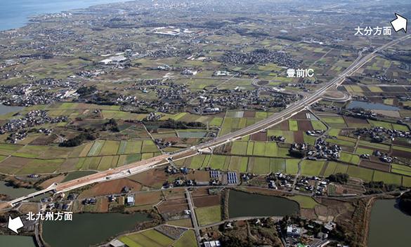 東九州道椎田南豊前間4月24日開通