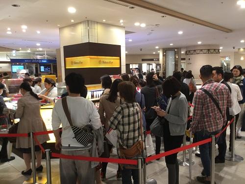 久々の博多阪急で、40分待ちの行列に参加!!!