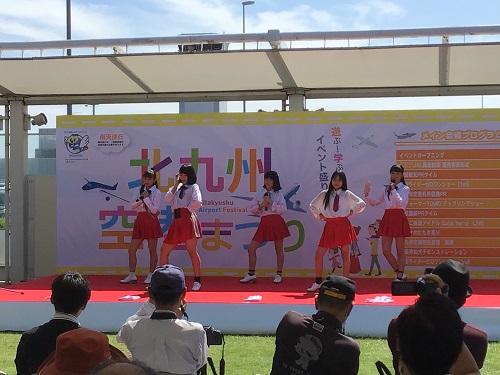 北九州空港まつりキューティーベリーもステージを盛り上げました